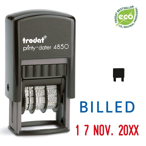 Trodat date stamp 4850/L - BILLED